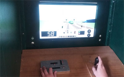 simulateur de conduite de train locomotive