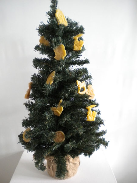 decoration sapin noel cire abeille demi14